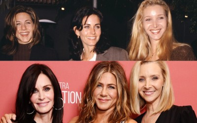 Wczoraj i dziś: Jennifer Aniston, Courteney Cox i Lisa Kudrow