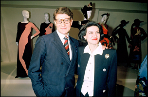 Yves Saint Laurent i Paloma Picasso w 1986 roku, Fot. Getty Images