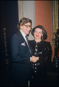 Yves Saint Laurent i Paloma Picasso w 1983 roku, Fot. Getty Images