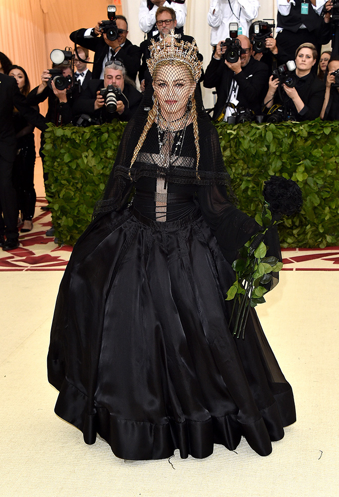 Madonna podczas MET Gali w 2018 roku, Fot. Getty Images