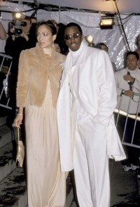 Jennifer Lopez i P. Diddy w 1999 roku, Fot. Getty Images