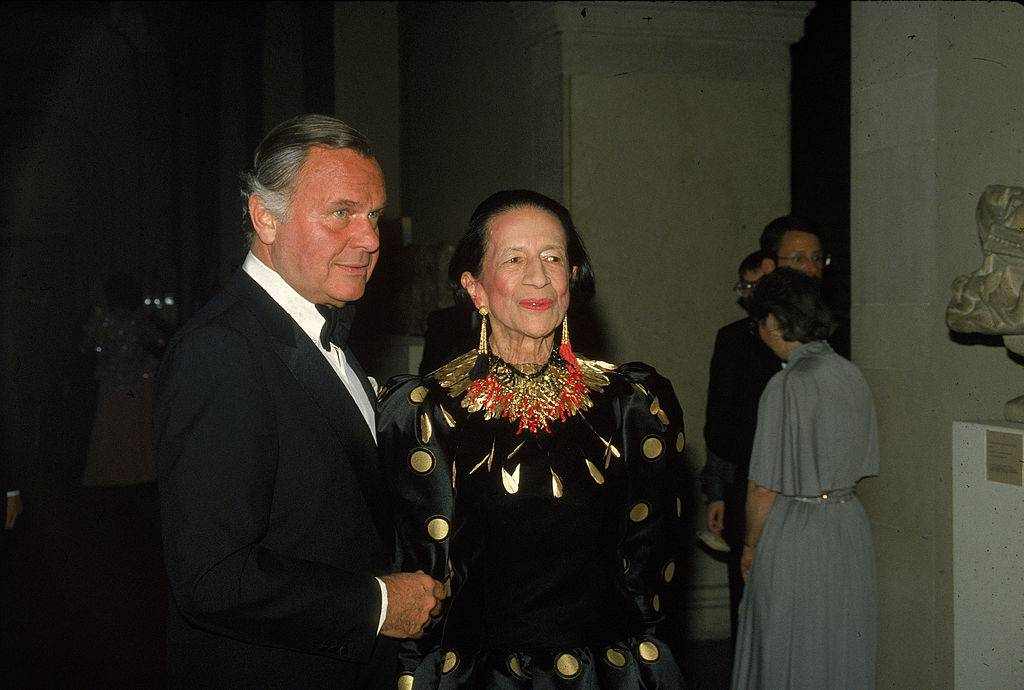 Bill Blass i Diana Vreeland w 1981 roku, Fot. Getty Images
