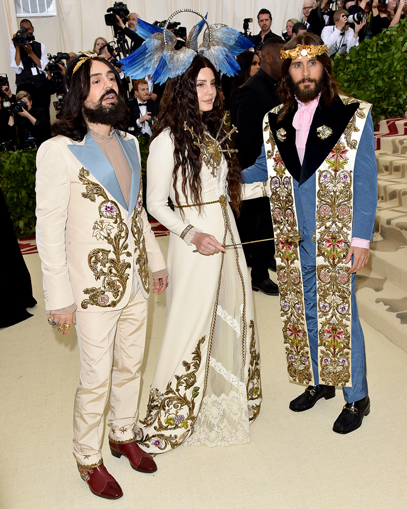 Alessandro Michele, Lana Del Rey i Jared Leto, John Shearer, Getty Images