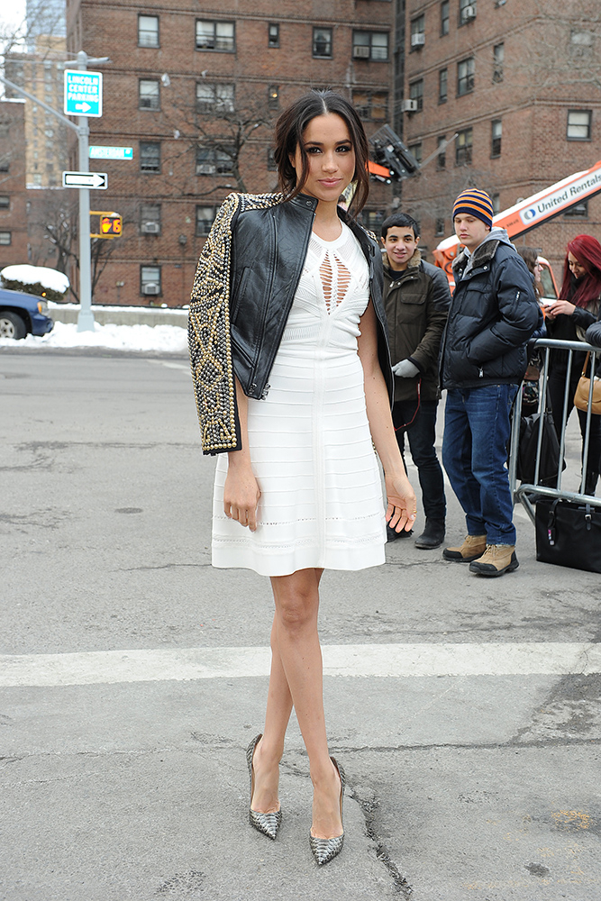 Meghan Markle podczas NYFW w 2014 roku, Fot. Getty Images