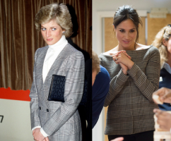 Lady Diana w 1988 roku, księżna Sussex w 2018 roku, Fot. Getty Images