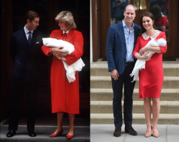 Lady Diana w 1984 roku, księżna Cambridge w 2018 roku, Fot. Getty Images