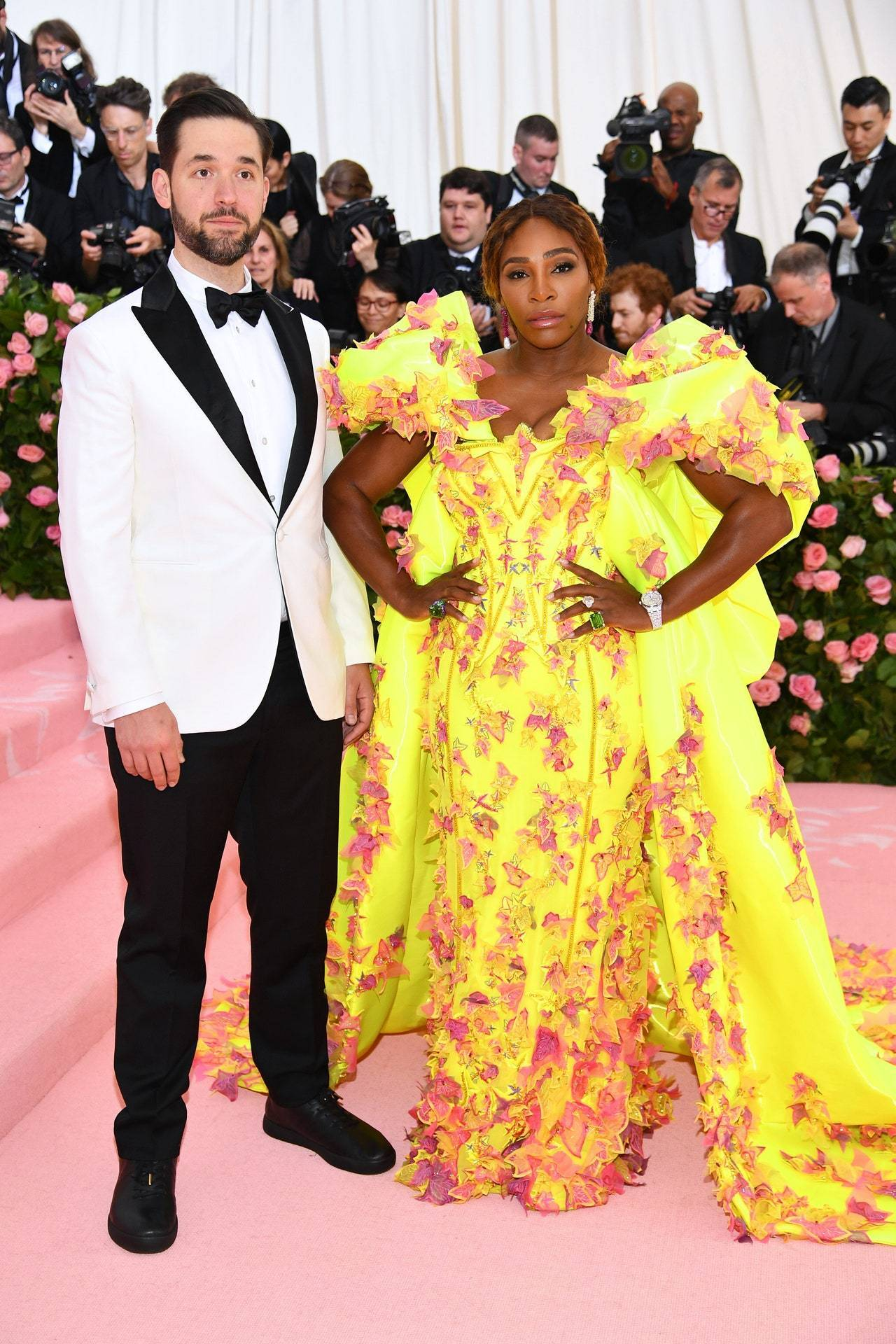 Nowy Jork: Serena Williams i Alexis Ohanian na gali Met, 2019 r. (Fot. Dimitrios Kambouris/Getty Images dla The Met Museum/Vogue)