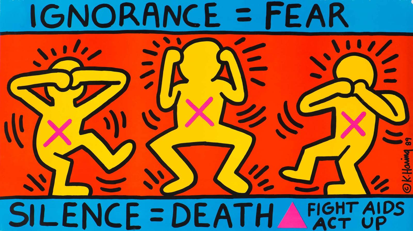 """Ignorance = Fear"", Keith Haring, 1989 (Fot. Collection Noirmontartproduction, Paryż)"