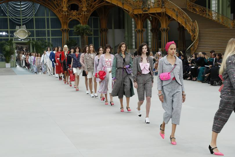 The finale of the Chanel Cruise 2020 show. Credit: OLIVIER SAILLENT