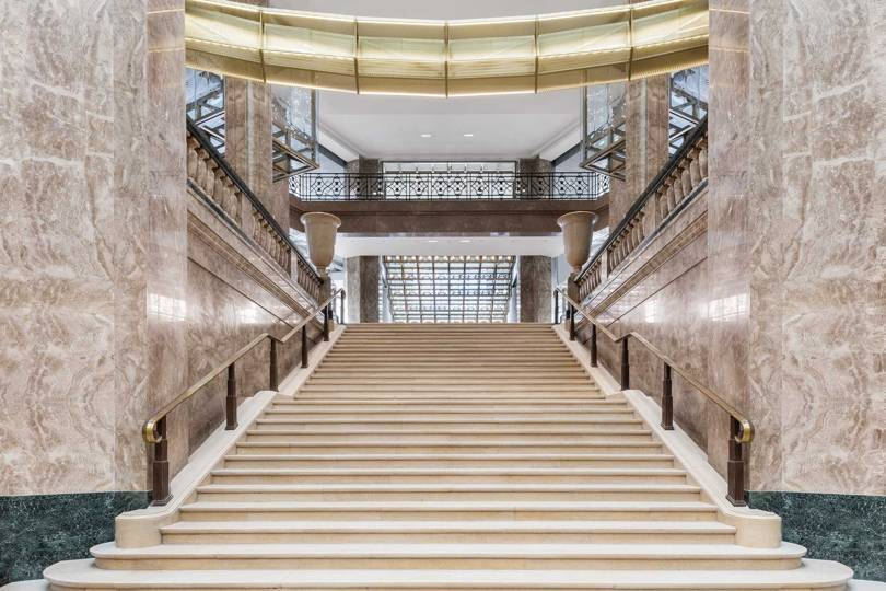 The interior of the new Galeries Lafayette on the Champs-Elysées, remodelled by starchitect Bart Ingels. Credit: DELFINO SISTO LEGNANI AND MARCO CAPPELLETTI