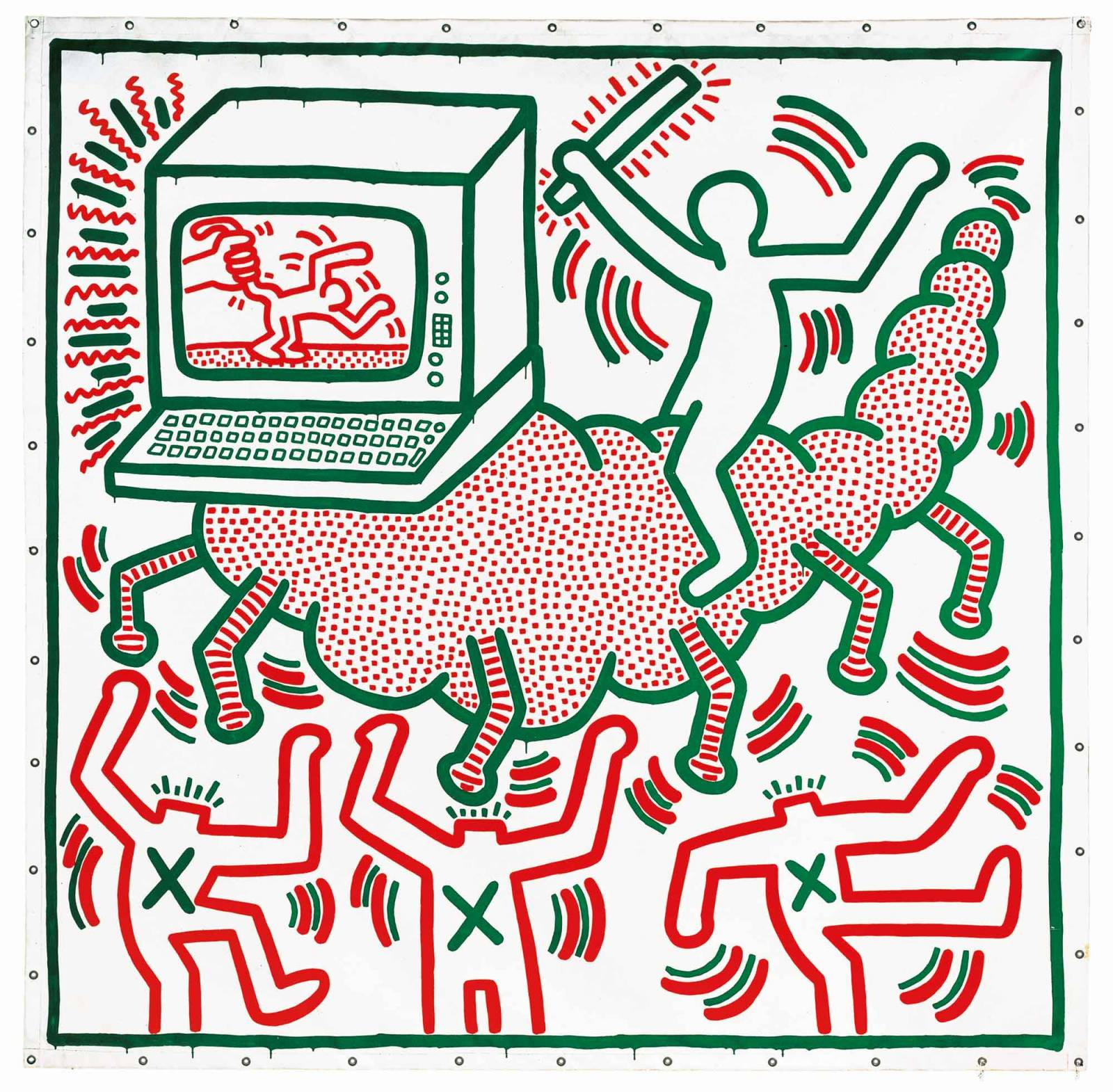 """Bez tytułu"", Keith Haring, 1983 (Fot. Collection of KAWS)"