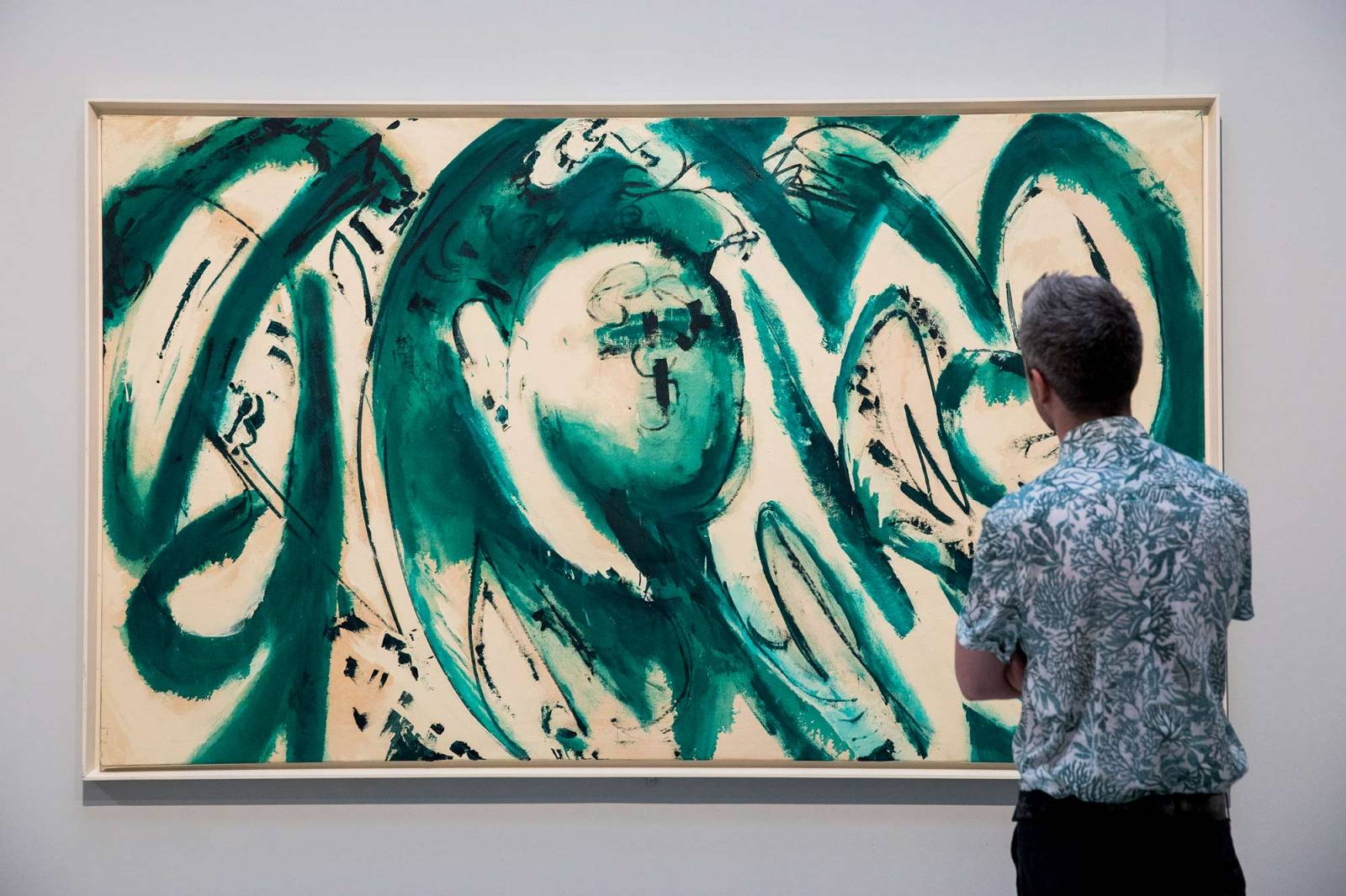 "Praca Lee Krasner na wystawie ""Living colour"" (Fot. Getty Images)"
