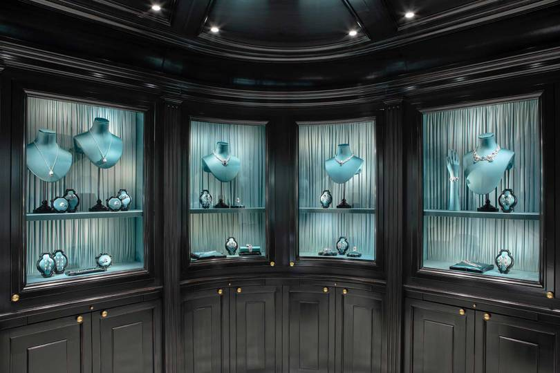 The interior of the new Gucci high jewellery boutique on Place Vendôme in Paris