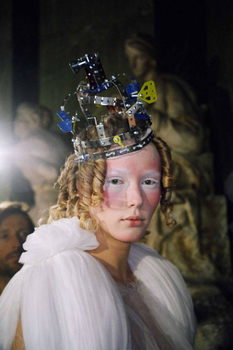 Crown by Stephen Jones for the Comme des Garçons Spring/Summer 2006 collection. Credit:LESLEY ROBESON
