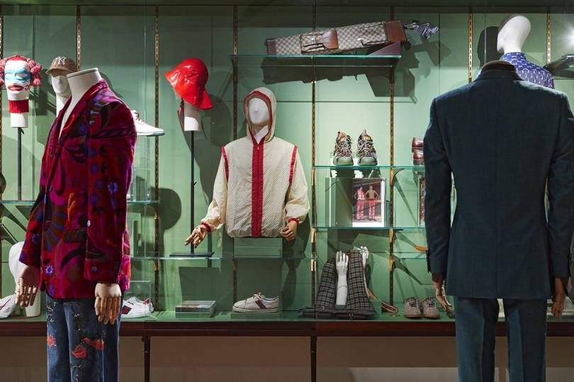 Displays from Guccis 'Androgynous Mind Eclectic Body' exhibition, Pitti Immagine, Florence, January 2019