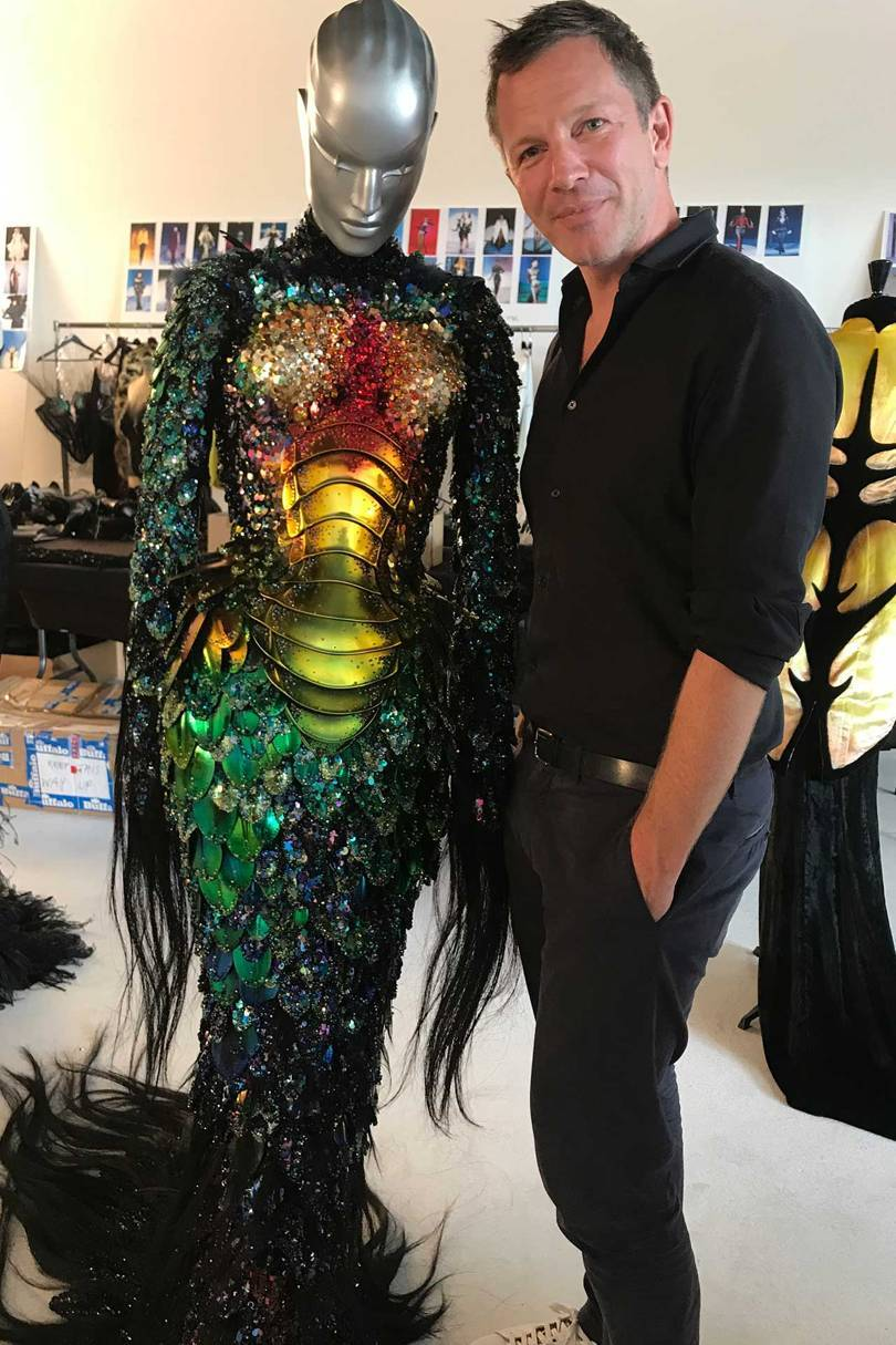 Thierry-Maxime Loriot in the Mugler archive in Paris, 2018