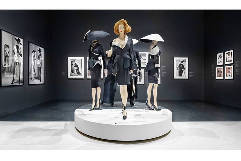 An installation from the Thierry Mugler: Couturissime exhibition at the Montreal Museum of Fine Arts. Credit: MMFA