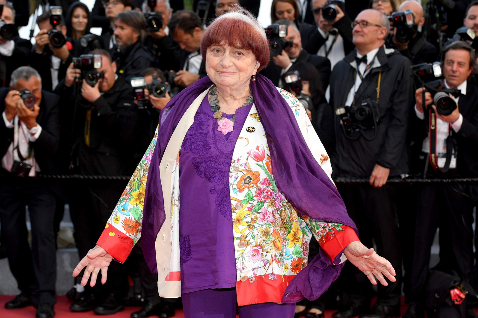 Agnès Varda na festiwalu w Cannes (Fot. Getty Images)