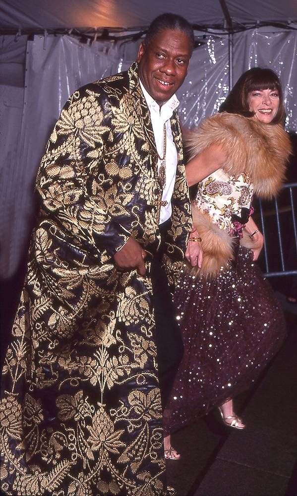 Andre Leon Talley i Anna Wintour na MET Gali w 1999 roku (Fot. Rose Hartman, Getty Images)