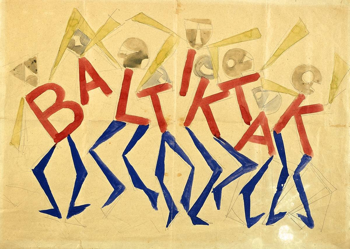 Giacomo Balla, Design for the sign and flashing light for the facade of theBal Tic Tac, 1921