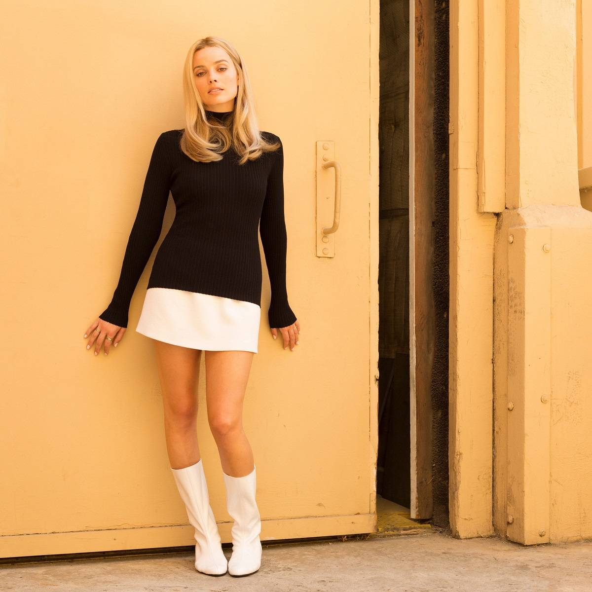 Margot Robbie na planie filmu Once Upon a Time in Hollywood