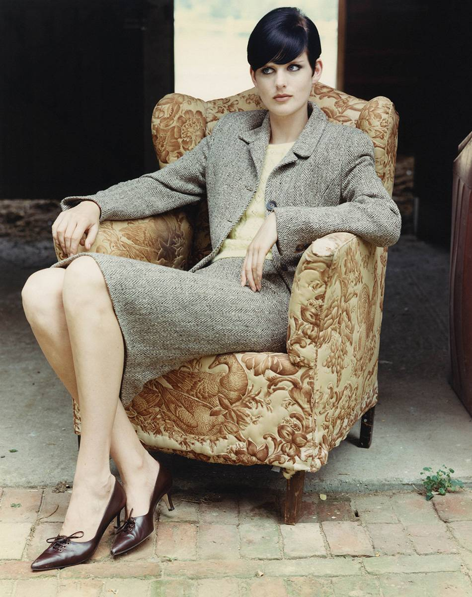 Stella Tennant, Vogue US, 1995 rok (Fot. Alrthur Elgort / Conde Nast / Getty Images)