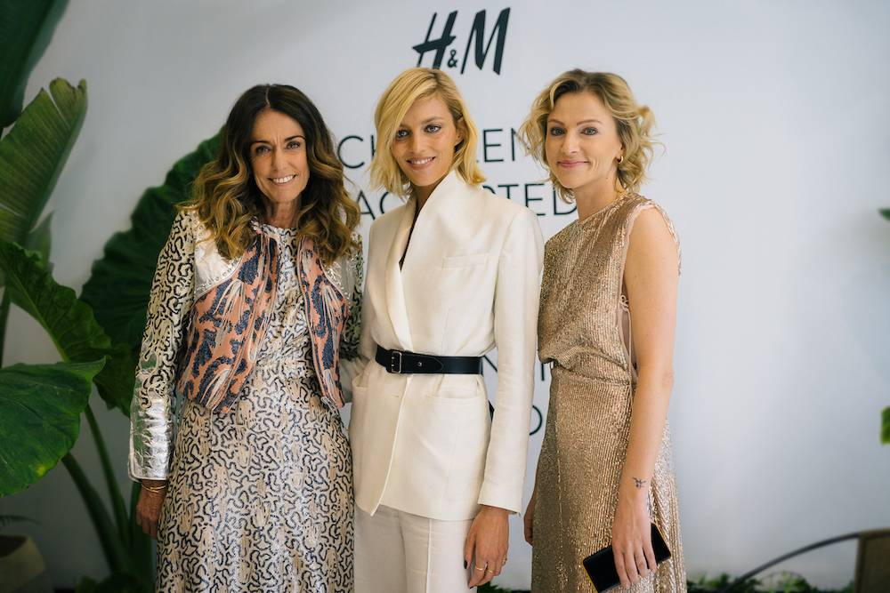 Dominique Fantaccino (H&M Country Manager SME), Anja Rubik oraz Magdalena Domaciuk
