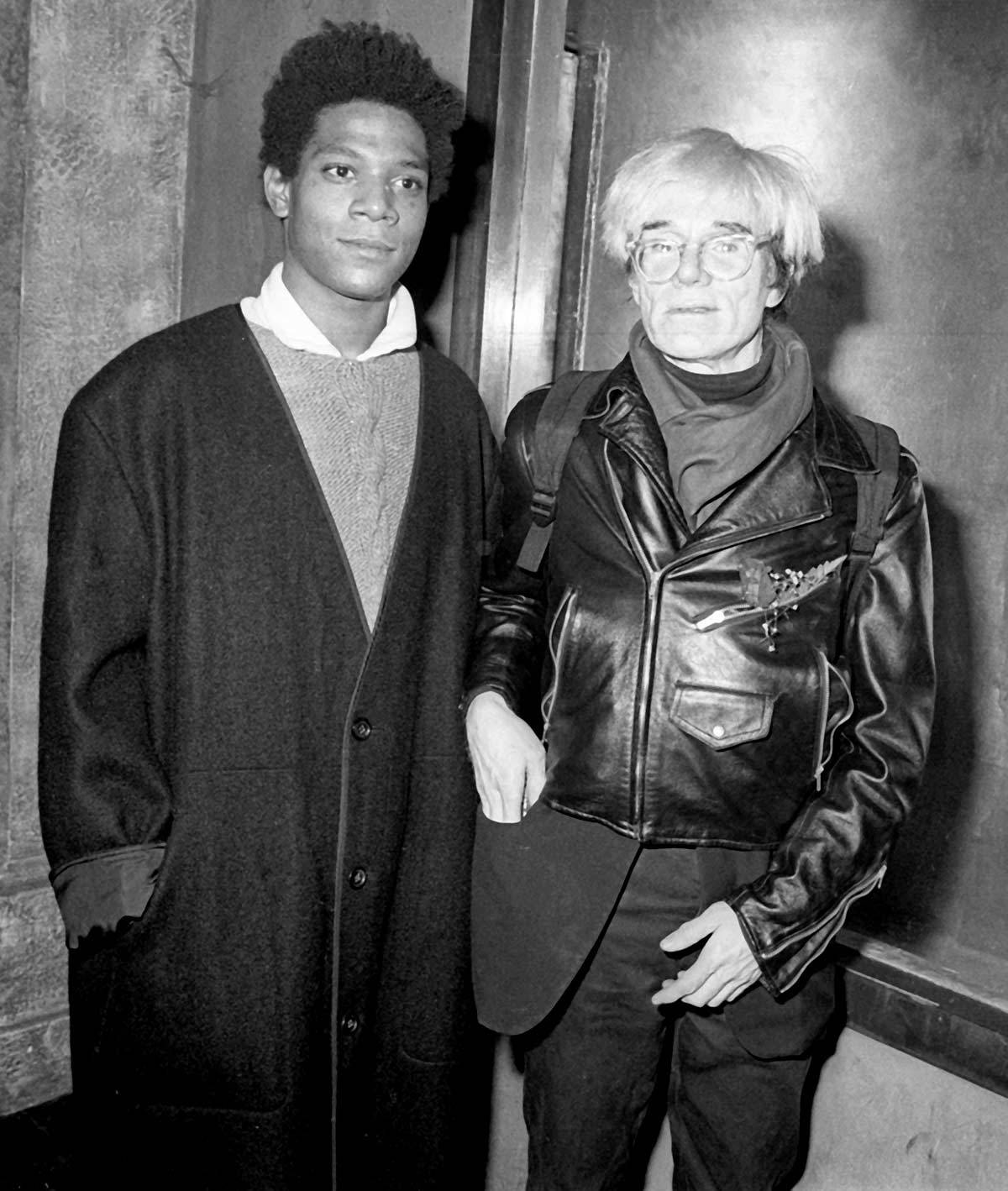 Jean-Michel Basquiat i Andy Warhol (Fot. Getty Images)
