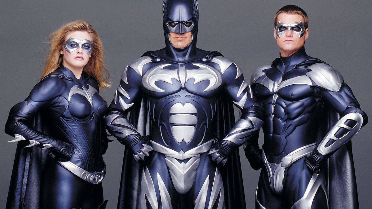 "Alicia Silvestone, George Clooney i Chris ODonnell w ""Batman i Robin"" / Fot. East News"