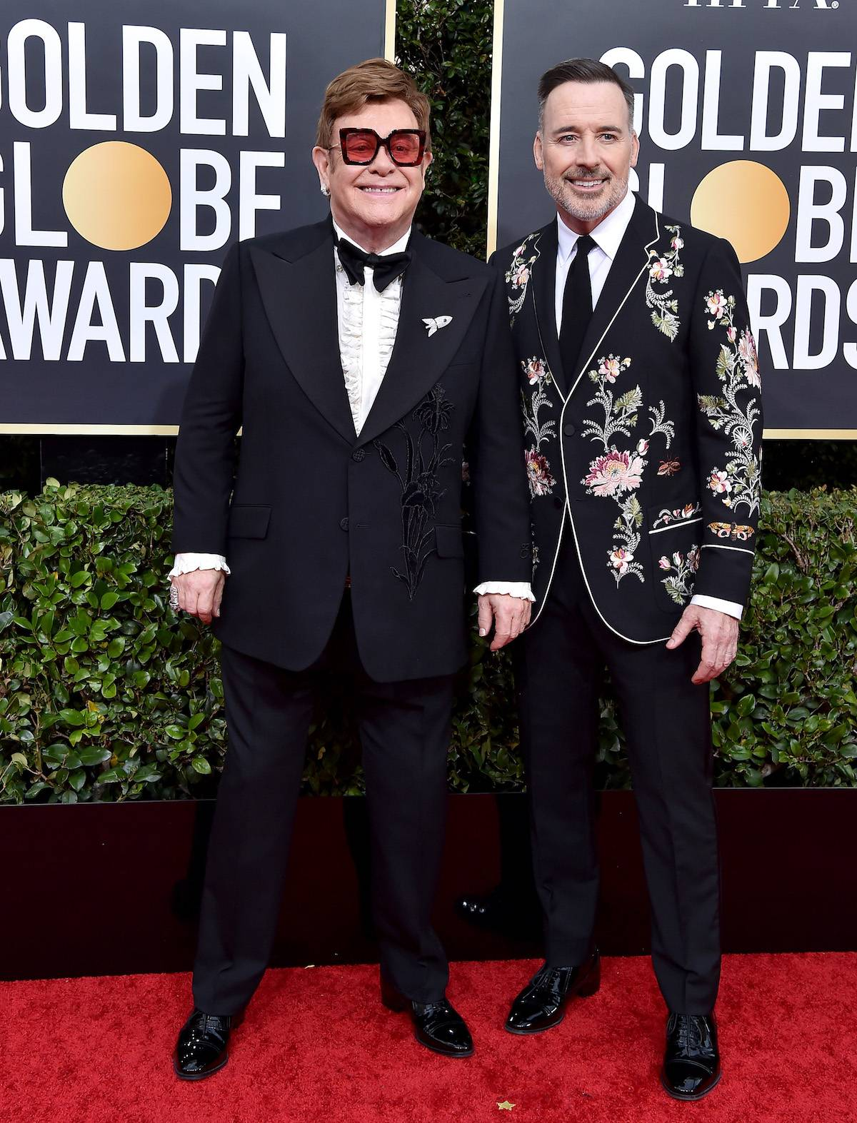 Elton John i David Furnish (Fot. Getty Images)