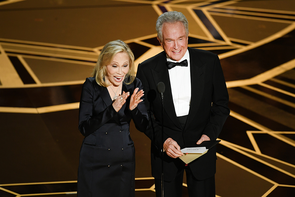 Faye Dunaway i Warren Beatty (Fot. Kevin Winter, Getty Images)