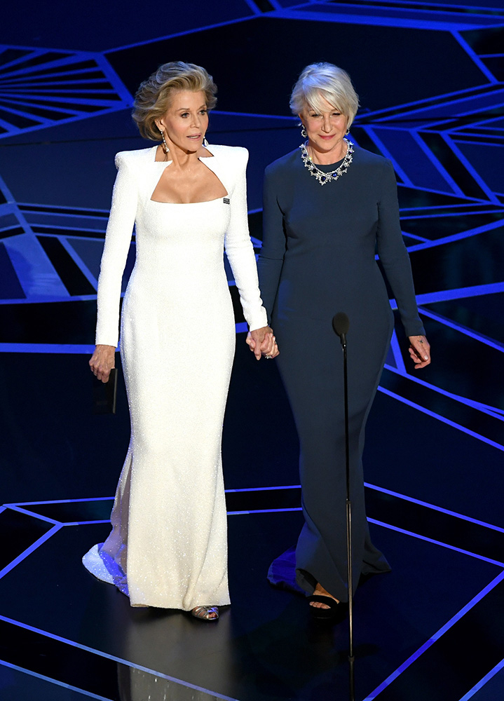 Jane Fonda i Helen Mirren (Fot. Kevin Winter, Getty Images)