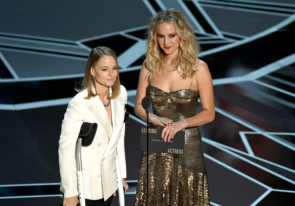 Jodie Foster i Jennifer Lawrence (Fot. Kevin Winter, Getty Images)