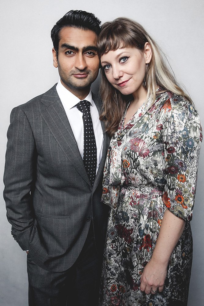Kumail Nanjiani z żoną Emily V. Gordon (Fot. Rich Fury/BAFTA LA, Getty Images)