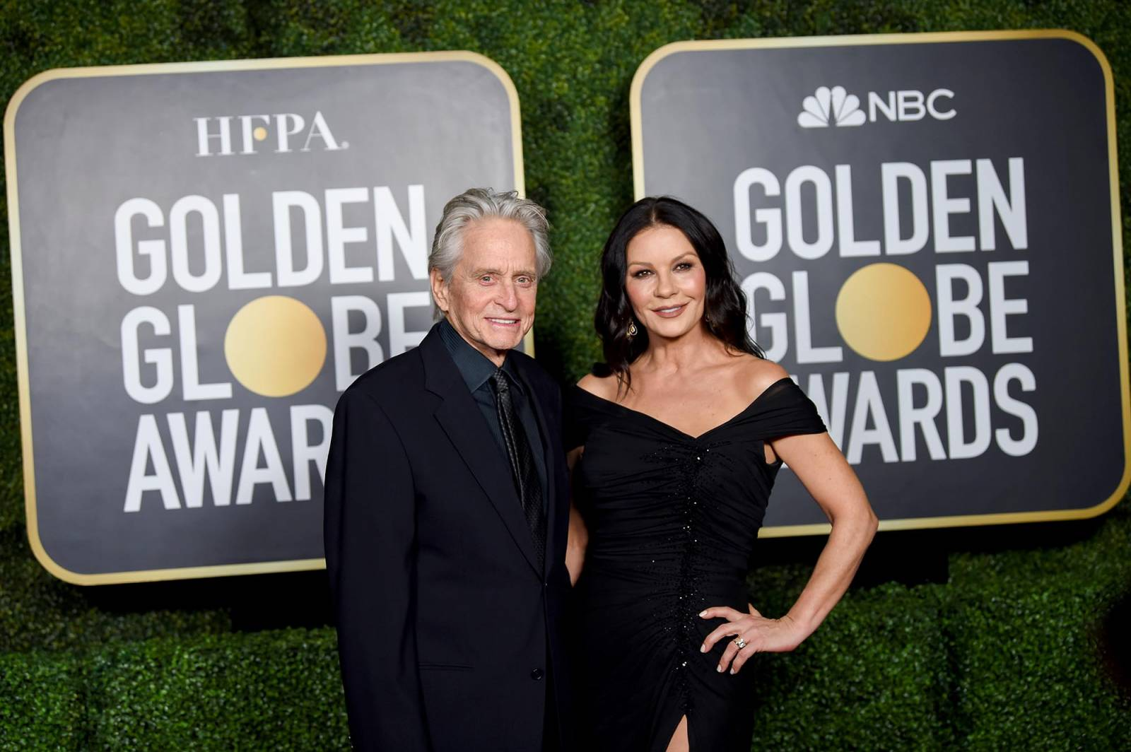 Michael Douglas i Catherine Zeta-Jones (Fot. Dimitrios Kambouris/Getty Images for Hollywood Foreign Press Association)