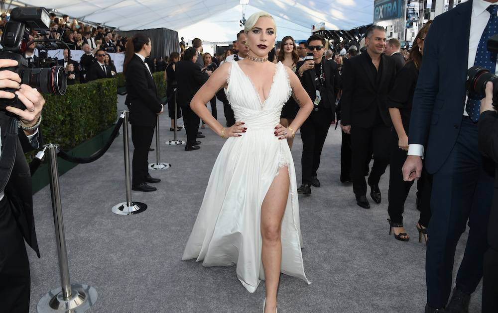 Lady Gaga na rozdaniu nagród SAG (Fot. Getty Images)