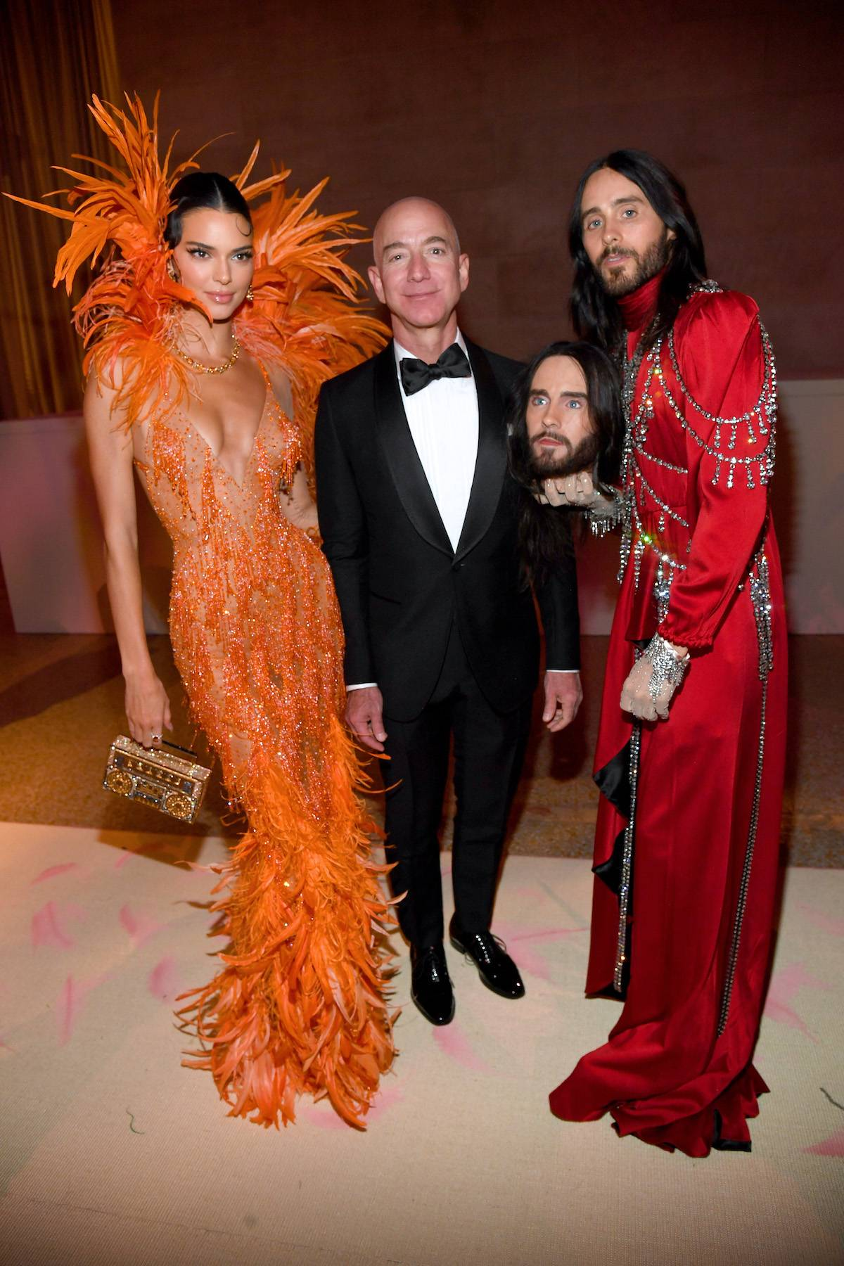 Kendall Jenner, Jeff Bezos i Jared Leto na MET Gali 2019 (Fot. Getty Images)