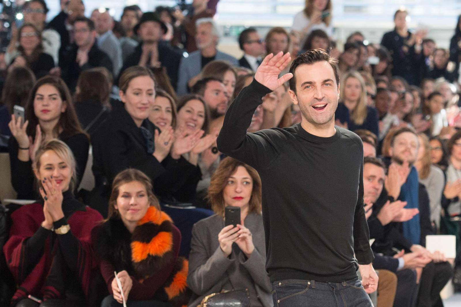 Nicholas Ghesquière,  Louis Vuitton sezon  jesień-zima 2014/2015 (Fot. Getty Images)