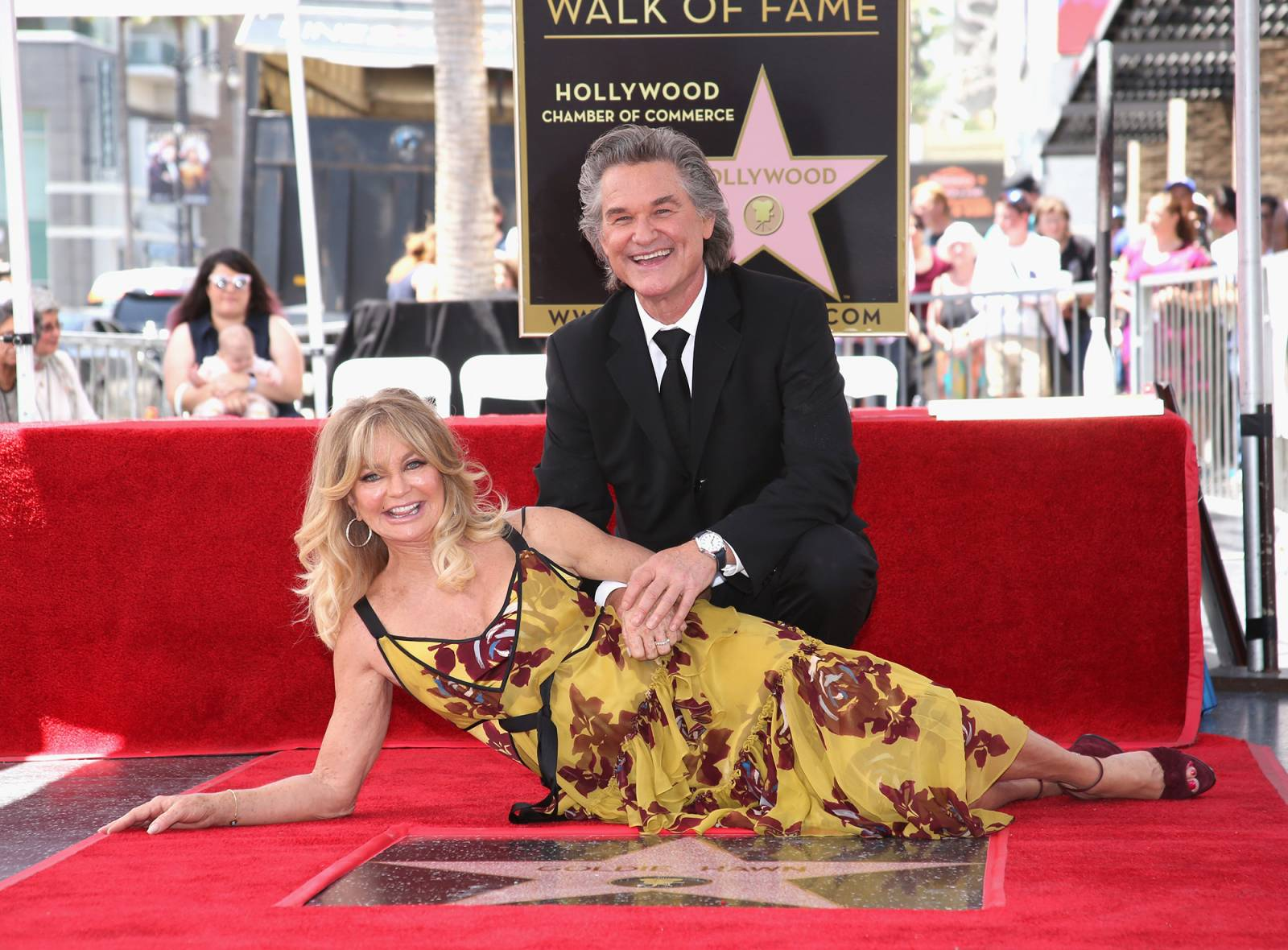 Kurt Russell i Goldie Hawn (Fot. Jesse Grant/Getty Images for Disney)