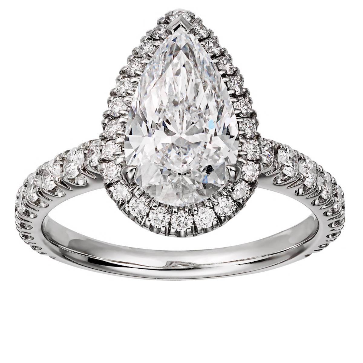 Кольцо с бриллиантом в форме слезинки от Cartier (Фото: материалы прессы)