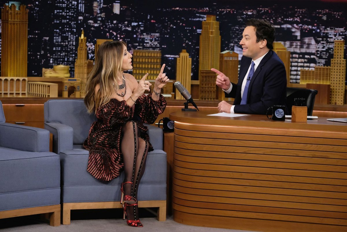 Sarah Jessica Parker w programie Jimmyego Fallona The Tonight Show (Fot. Theo Wargo, Getty Images)