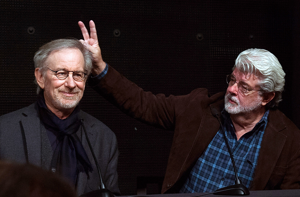 Steven Spielberg i George Lucas (Fot. Valerie Macon, Getty Images)