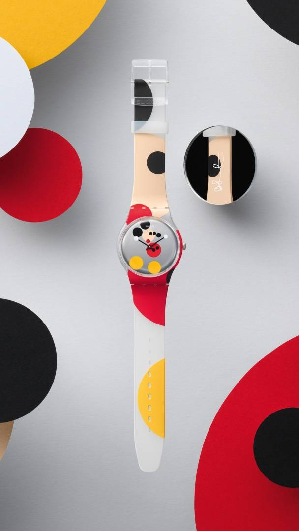 Swatch x Damien Hirst, model Mirror Spot Mickey