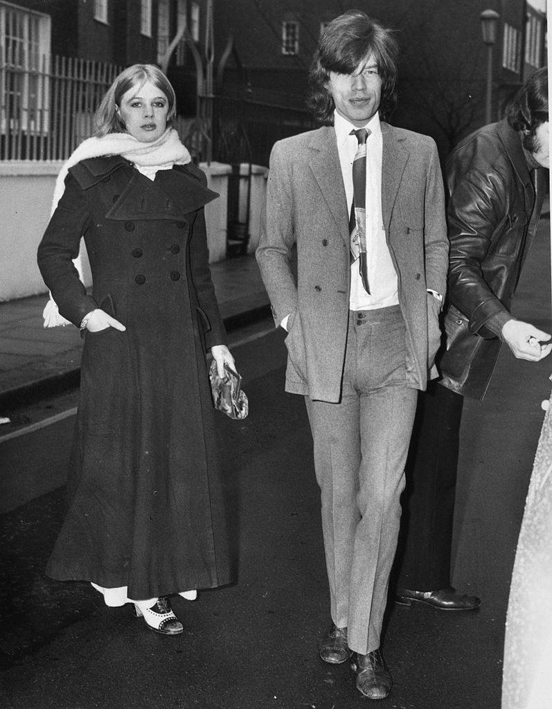 Mick Jagger i Marianne Faithfull (Fot. Getty Images)