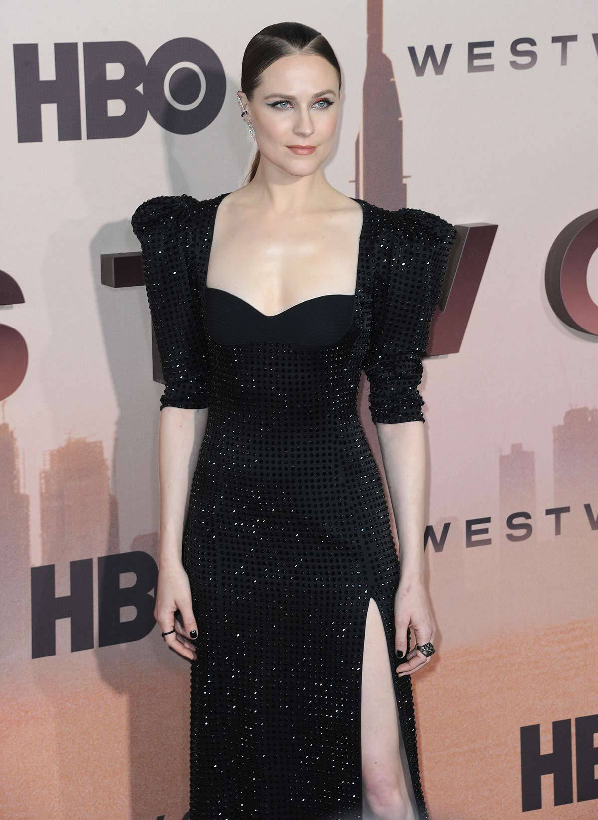 "Evan Rachel Wood na premierze serialu ""Westworld 3"" (Fot. Getty Images)"