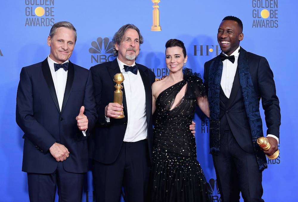 Viggo Mortensen, Peter Farrelly, Linda Cardellini, Mahershala Ali (Fot. Getty Images)