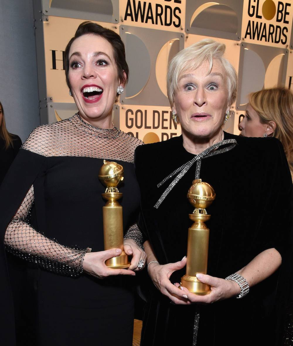 Olivia Colman i Glenn Close (Fot. Getty Images)